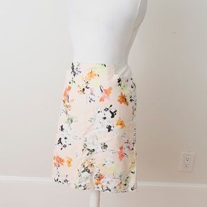 NWT Pink Floral Pencil Skirt